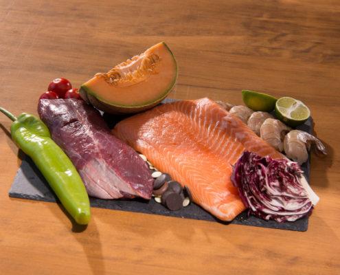 húsok, halak, hozzávalók